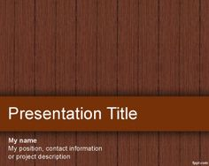 Plantilla PowerPoint de Madera