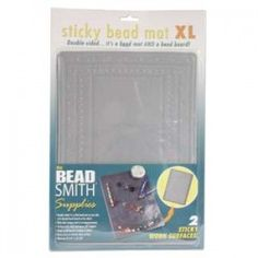 "BEADSMITH 5.5/"" x 3.25/"" CLEAR STICKY BEAD MAT BEADING /& JEWELLERS BENCH WORK MAT"