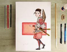 Working On Myself, New Work, Samurai, Behance, Gallery, Check, Art, Art Background, Roof Rack