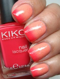 Two Toned Nail Color