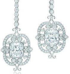 Tiffany and Co Lucida diamond drop earrings.