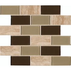 """Found it at Wayfair - Pine Valley Mounted 2"""" x 4"""" Glass Stone Subway Tile in Beige"""