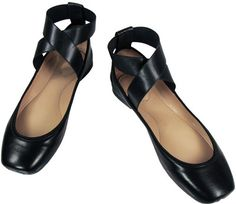 Chloe Chloé Criss-Cross Ballerina Flats In Black | Sumally