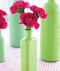hmmm... looking for a cool craft with my empty wine bottles..Spray painted wine bottles