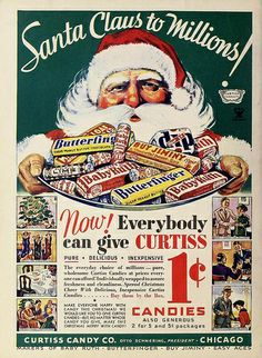 Curtiss Candy Christmas ad, January 1934
