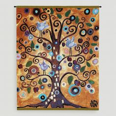 """Tree of Life I"" by Natasha Wescoat Wall Tapestry 