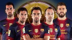5 canteranos gala balon de oro 2013