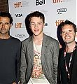 Connor at TIFF 2012 - with Blackbird director Jason Buxton and Producer David Miller