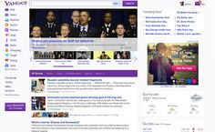 Yahoo's new home page design via @CNET