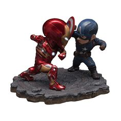 Marvel - Captain America: Civil War Captain America vs Iron Man Mk46 Egg Attack Figure - ZiNG Pop Culture