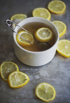 hot black tea with lemon is my go-to drink on days i'm so sick i can't eat. fresh lemon is just wonderful no matter how you use it, really! just make sure to take your lemon slices out when your tea is steeped, unless you like a sour drink. (i do, at least on sick days!)