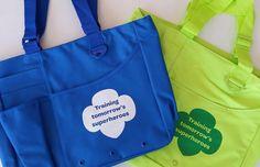 Volunteer Tote Bag - $15.00 (lime green or blue)