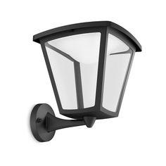 COTTAGE - Applique d'extérieur LED Montante Noir H26,5cm - Luminaire d'extérieur Philips designé par