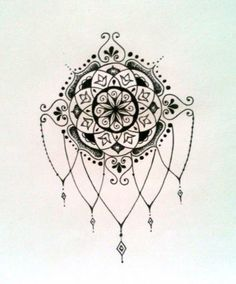 Mandala chandelier tattoo idea