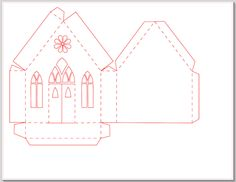 Tutorials and Application Ideas for Silhouette Projects Designed by Marji Roy Christmas Card Crafts, Christmas Printables, 3d Cuts, Diy Cardboard Furniture, Paper Art, Paper Crafts, Pottery Houses, House Template, Cardboard Sculpture