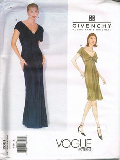 UNCUT GIVENCHY Size 14-18 Misses Deep V Neck by BusyBeaverBoutique