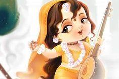 God's Favorite Valentine Meerabai, her poems, songs are unparalleled example of devotion and Love towards Shree Krishna. Baby Ganesha, Baby Krishna, Radha Krishna Love, Lord Krishna, Lord Shiva Painting, Krishna Painting, Radha Krishna Pictures, Krishna Photos, Arte Krishna