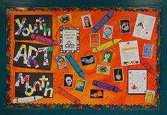Youth Art Month Bulletin Board
