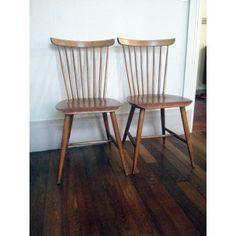 Paire de chaises scandinaves Samcom en teck - 1960