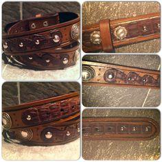 Custom made gator belt with rope conchos