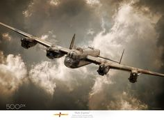 """""""Rhur Express - Avro Lancaster by """" Ww2 Aircraft, Military Aircraft, Airplane History, Lancaster Bomber, Jeep Wrangler Accessories, Nose Art, Royal Air Force, Aviation Art, Private Jet"""