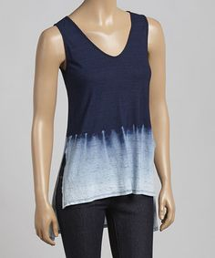 Look what I found on #zulily! Blue Ombré Sophia Tank by LOLLY #zulilyfinds