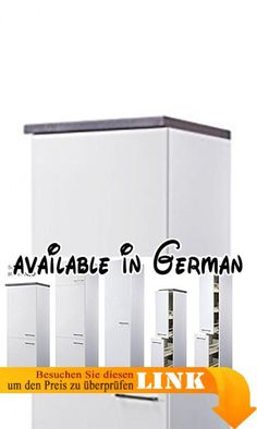 B01B3URM7O Demi Apothekerschrank 30 cm Hochglanz Weiss Valencia
