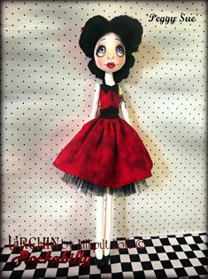 'Peggy Sue' Rockabilly Urchin art doll by Vicki @ Lilliput Loft