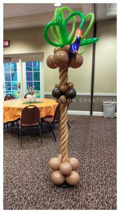 #Topnotchballooncreations #safari #balloon #tree #baby #shower