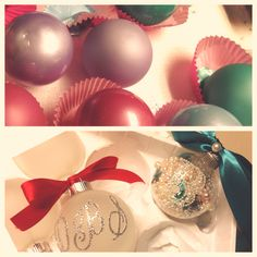 diy christmas craft. Glass ornament. Acrylic paint. Poof! You're crafty