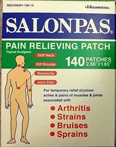 SALONPAS 140 ct Pain Relieving Patches external Arthritis Back Relief Salon Pas by Salonpas -- Awesome products selected by Anna Churchill