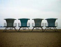 CA life guards shacks.