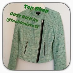 TOPSHOP TWEED SPRING BLAZER HOST PICK  Excellent pre-worn condition! Worn just a few times. Pairs great with white! US Size 2. Fully lined. 70% cotton, remainder acrylic, nylon & poly. Dry clean. Measurements to follow. HP by @fashionista21 Daneen  Topshop Jackets & Coats Blazers