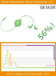Green Retractable Stereo Earphones (vf) (Electronics). Drop 56%! Current price C$ 16.28, the previous price was C$ 36.70. http://www.adquisitiocanada.com/retrak/green-retractable-stereo