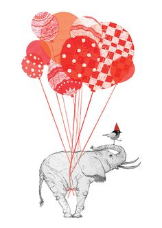 Verjaardagskaart Olifant van Zuinigmetzwart op Etsy, €1.50