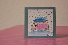 French bulldog winter card, funny motive, handmade of paper and fingerprint art combination, unique (small format) by BoubouleArt on Etsy