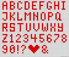 Letters 4 across Crochet Alphabet, Crochet Letters, Cross Stitch Alphabet Patterns, Cross Stitch Letters, Letter Patterns, Cross Stitch Baby, Alpha Patterns, Bead Loom Patterns, Cross Stitch Designs
