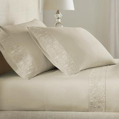 Shop our Collection of 100% Certified Egyptian Cotton Sheets. Transform your bedroom with our luxurious & eco-friendly sheets. 100% pure Egyptian Cotton. Shop soft, silky, and smooth bed sheets now! Cotton Sheet Sets, Bed Sheet Sets, Luxury Comforter Sets, Egyptian Cotton Bedding, Bedding Basics, Giza, Bed Styling, Bed Pillows, Beige