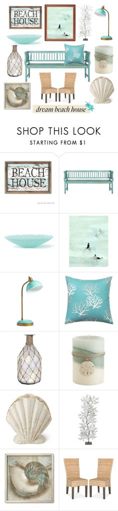 """Beach House"" by muskrosevintage ❤ liked on Polyvore featuring interior, interiors, interior design, home, home decor, interior decorating, Safavieh, Leftbank Art, PBteen and Pomeroy"