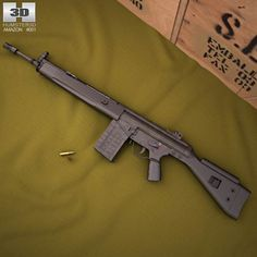 Heckler & Koch G3A3 3d model from humster3d.com. Price: $50