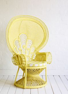 Put this gorgeous lemon chair on my front porch, and I could spend hours out in the fabulous spring weather.