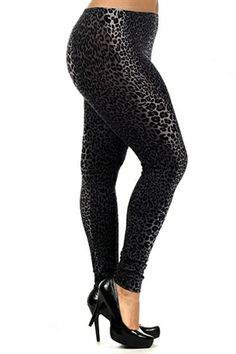 Plus Size Leggings with Crochet Lace Side Insets   Budget Savvy ...