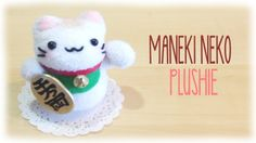 How make Make Lucky Cat Plushie - [COMPLETE] so I did this project and I love it!! it's so cute and fluffy