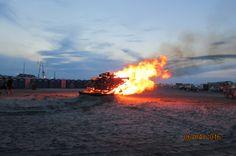 Bonfire on shore, Wildwood