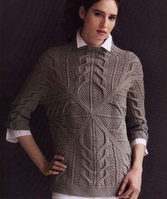 b948d017ee52 пуловер. Lyudmila Gargalyk · Вязание спицами свитера, жакеты, пальто,  кардиганы, джемпера, платья костюмы