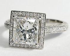 Heirloom Halo Micropavé Diamond Engagement Ring in Platinum #BlueNile