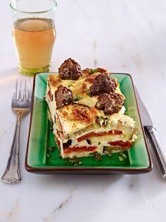 Low Carb Rezepte : Genuss ohne Kohlenhydrate  - Wunderweib Auberginen Joghurt Auflauf mit Lammhackfleisch