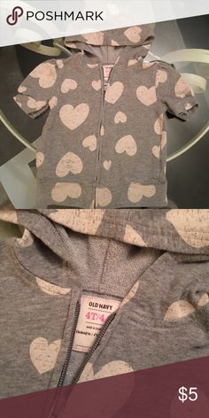 Girls heart Old Navy hoodie Excellent used condition Old Navy Shirts & Tops Sweatshirts & Hoodies