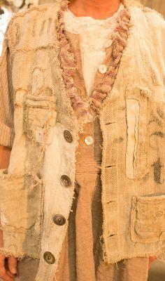 MP Plantation Collection Jacket of Antique European Linen short