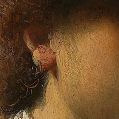 """detail from """"Self portrait at an early age"""" (around by Rembrandt Harmenszoon van Rijn @ Rijksmuseum Rembrandt Portrait, Rembrandt Art, Basic Painting, Painting Tips, Classic Paintings, Ancient Art, Art Google, Painting Techniques, Painting Inspiration"""